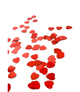 Confettis de table coeur 10mm Rouge