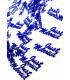 Confettis de table Just Married 10mm Bleu Électrique