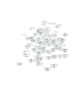 Confettis de table cristal, diamant 8mm Translucide