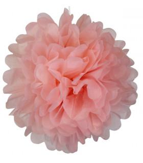 Pompon deco salle papier de soie Rose Pale
