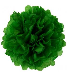 Pompon deco salle papier de soie Vert