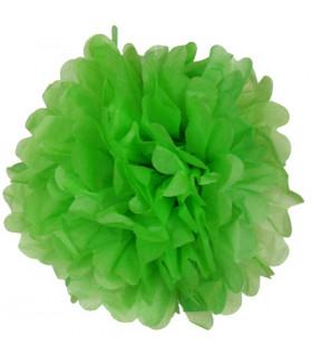 Pompon deco salle papier de soie Vert Lime