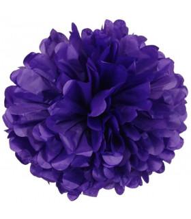 Pompon deco salle papier de soie Violet