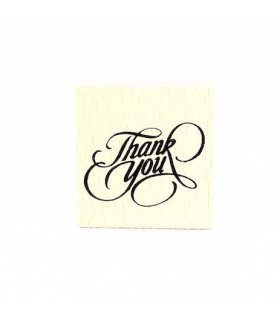 Tampon Thank you carré 4x4 Bois