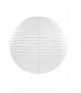 Lanterne en papier chinois boule deco Blanc