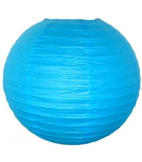 Lanterne en papier chinois boule deco Bleu Azur