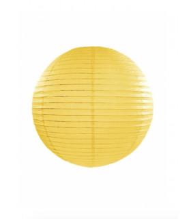 Lanterne en papier chinois boule deco Jaune