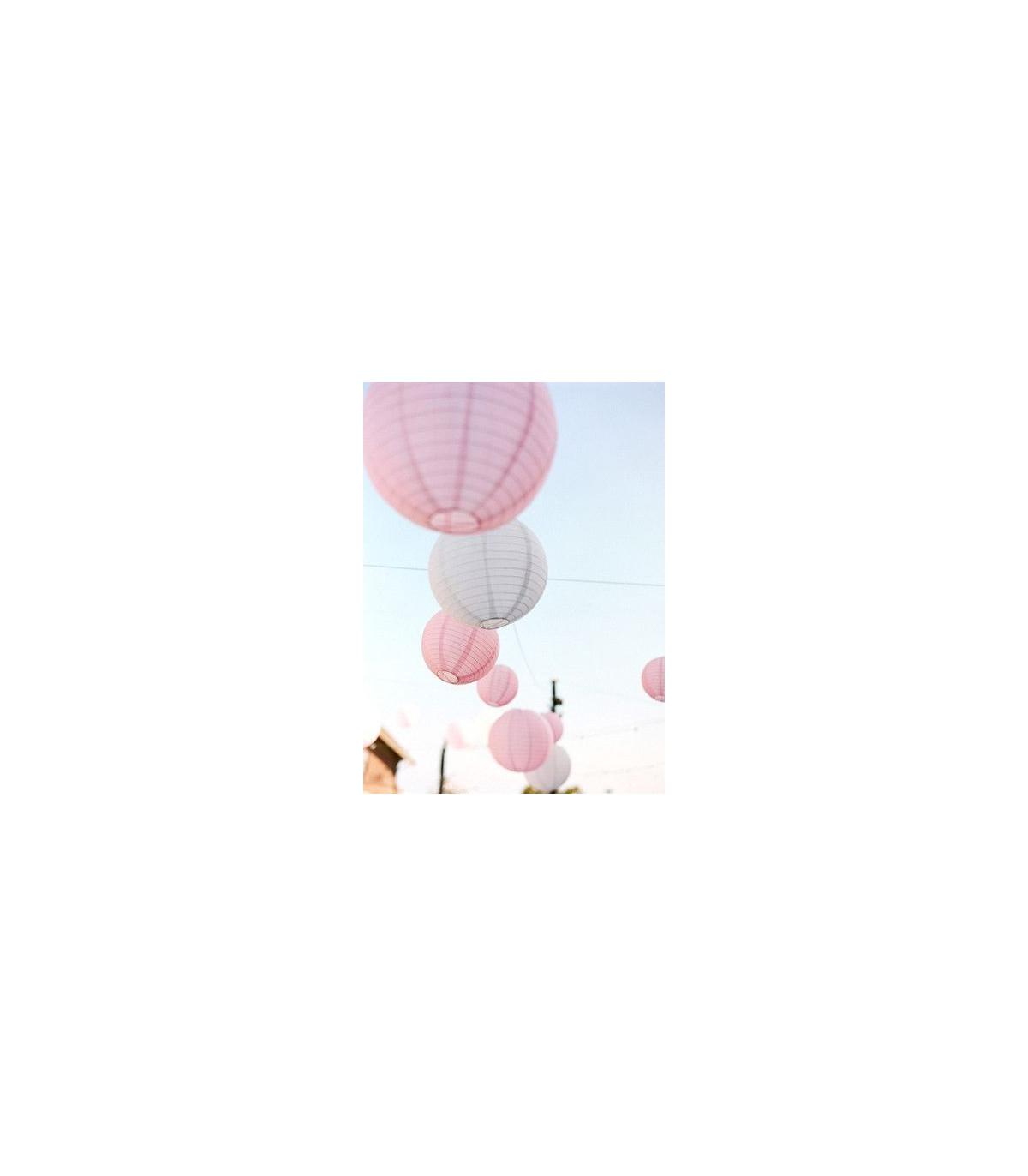lanterne en papier chinois boule deco rose p le couleur rose diam tre 25 cm. Black Bedroom Furniture Sets. Home Design Ideas