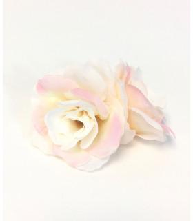 Fleurs artificielles  bicolore 6cm Rose Et Blanc 4 pcs