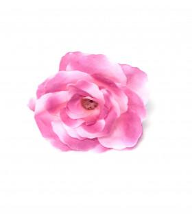 Fleurs artificielles bicolore 6cm Fuchsia Et Rose 4 pcs