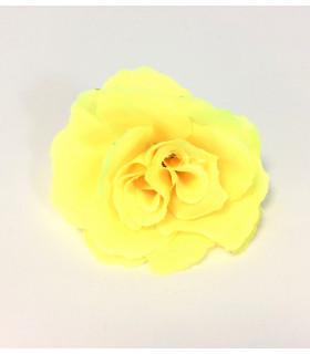 Fleurs artificielles deco 6cm Jaune 4 pcs