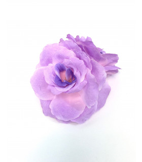Fleurs artificielles deco 6cm Parme 4 pcs