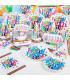 Kit complet Anniversaire enfant Happy Birthday Multicolore