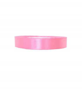 Ruban satin 15mm  22m Rose Fluo