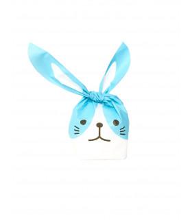 Contenant dragées sachet bonbon petit lapin Bleu 10 pcs