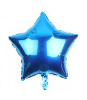 Ballon Géant étoile 45cm anniversaire Bleu Électrique