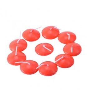 Bougie rouge flottante Décoration Table,Salle 10 pcs