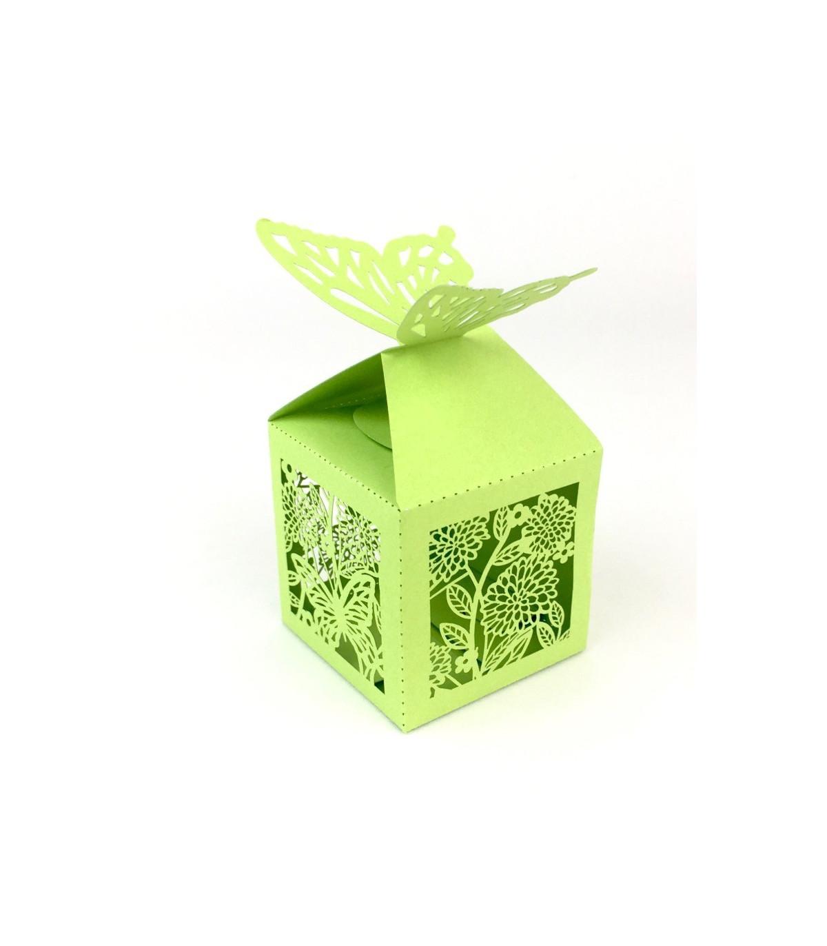 Contenant drag es cube vert pomme motif papillon couleur vert - Pomme papillon ...