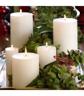 Bougie décoration premium h 15cm centre de table Couleur Ivoire