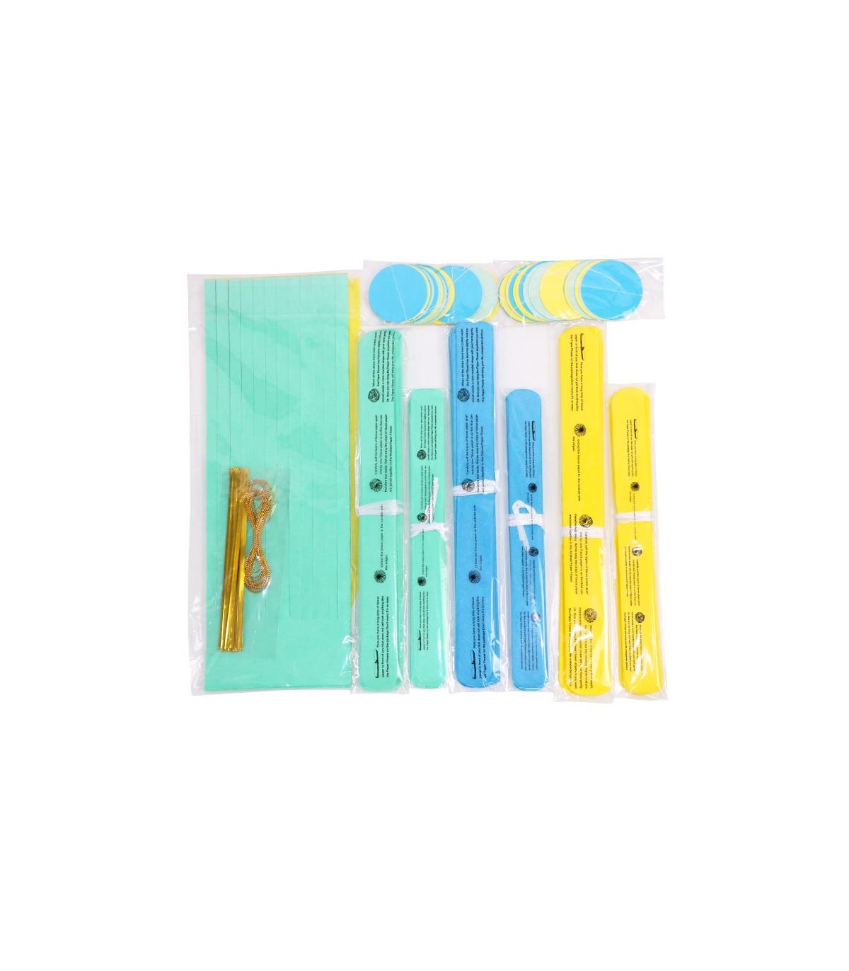 kit deco 20pcs jaune bleu azur bleu pastel pompom lampion guirlande couleur multicouleur. Black Bedroom Furniture Sets. Home Design Ideas