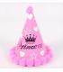 Chapeau anniversaire 4pcs Princesse étoile Rose