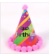 Chapeau anniversaire 4pcs Happy birthday Multicouleur