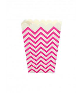 Sachet pop-corn motif chevrons Rose 6 pcs