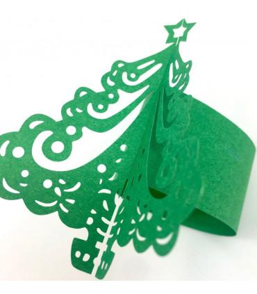 rond de serviette sapin no l vert 12pcs couleur vert. Black Bedroom Furniture Sets. Home Design Ideas