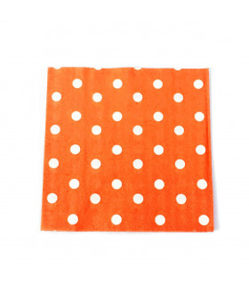 Serviette en papier motif pois festive Orange 20 pcs