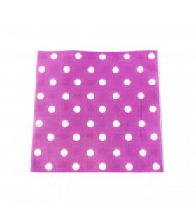 Serviette en papier motif pois festive Violet 20 pcs