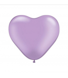Ballon coeur Parme 100pcs