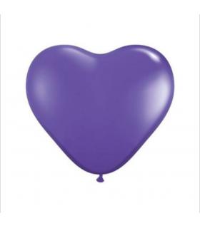 Ballon coeur Violet 100pcs