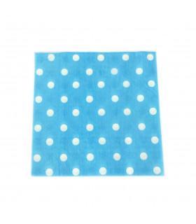 Serviette en papier motif pois festive Bleu 20 pcs
