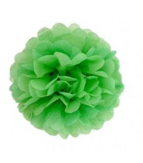 Pompon deco salle papier de soie Vert pomme