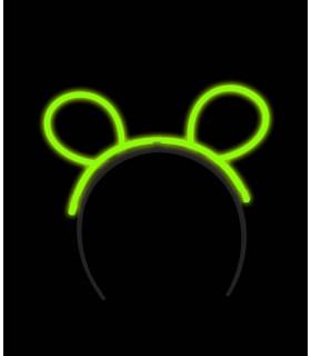 Serre tête oreilles de souris fluo lumineux Vert
