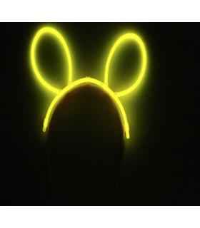 Serre tête oreilles de souris fluo lumineux Jaune