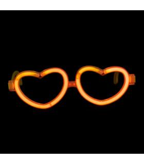 Lunettes lumineuses en forme de coeur Orange