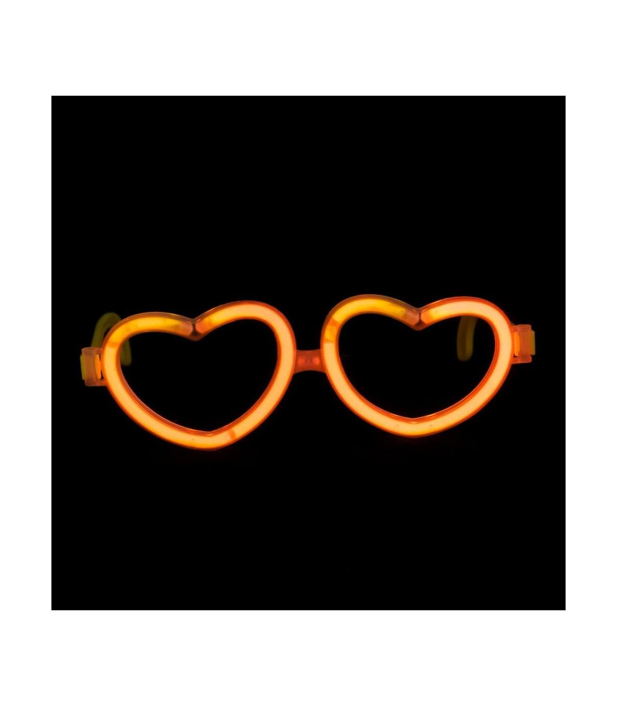 ca97e018748621 Lunettes lumineuse en forme de coeur Orange Couleur Orange
