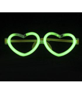 Lunettes lumineuses en forme de coeur Vert