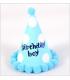 Chapeau anniversaire 4pcs Birthday boy Bleu