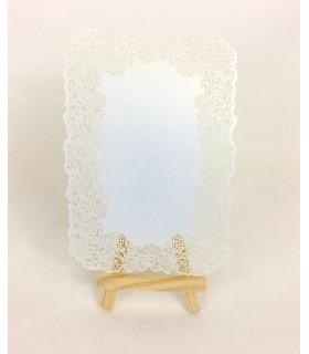 marque table chevalet carte dentelle ivoire