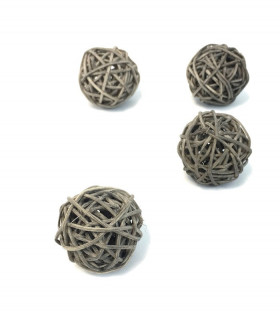 Boule en rotin deco table Ardoise 5 pcs