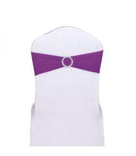 noeud de chaise violet stretch avec boucle strass 5pcs