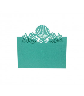 Marque Place theme mer coquillage Turquoise 20pcs