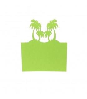 Marque Place theme voyage ile palmier vert-pomme 20pcs