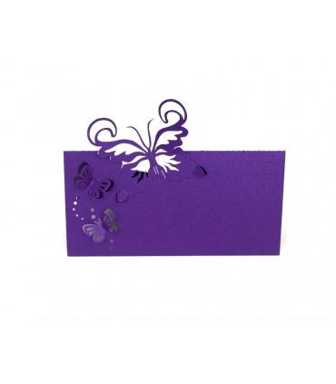 Marque place table mod le papillon relief violet 20 pcs - Modele papillon ...