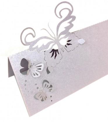 Marque place table mod le papillon relief parme 20 pcs - Modele papillon ...