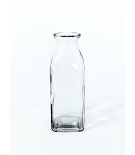 Bouteille vase Carré Transparent
