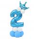 Kit Ballon Anniversaire Chiffre 2 garcon Bleu