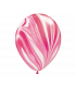 Ballons marbrés 30cm Fuschia 12pcs